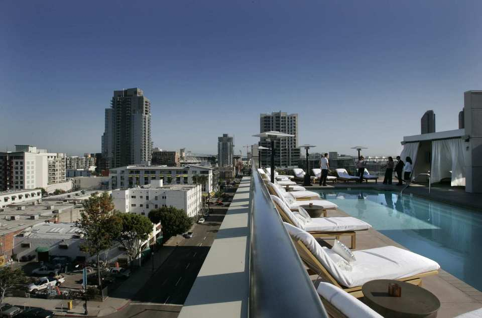 """<i>777 S. Eden St., Harbor East; 410-696-5944</i> <br><br> Eden easily features one of the best rooftop pools for an apartment in the region. Dubbed the """"Paradise Pool,"""" the 20-foot-by-15-foot pool is heated and has built-in corner seats, according to Michelle Pearce, property manager for the upscale apartment building. <br><br> The pool is only for Eden residents, but residents are allowed to bring a guest. Time to make new friends. <br><br> <b>Tip:</b> The pool, which holds up to 30 people, tends to get crowded on weekends, according to Pearce."""