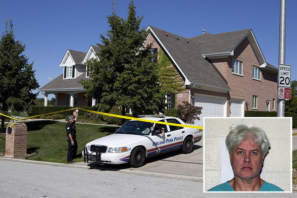 The Orland Park house where Jeanie Kustok was shot by her husband, Allan Kustok.
