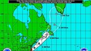 5-day forecast zone for Arthur as of Thursday, July 3, 2014.