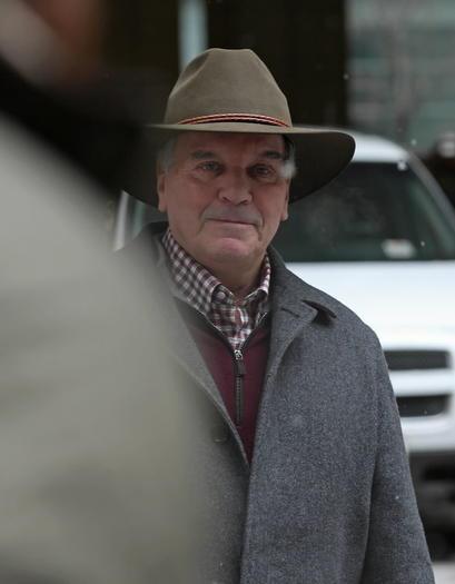 Former Mayor Richard M. Daley leaves Northwestern Memorial Hospital in February.