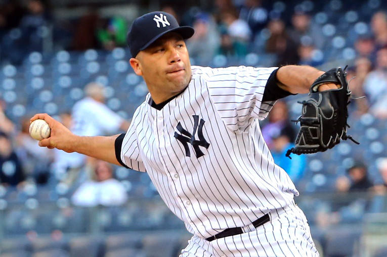 Alfredo Aceves has been in the Yankees organization after not earning a spot with the Orioles this spring.