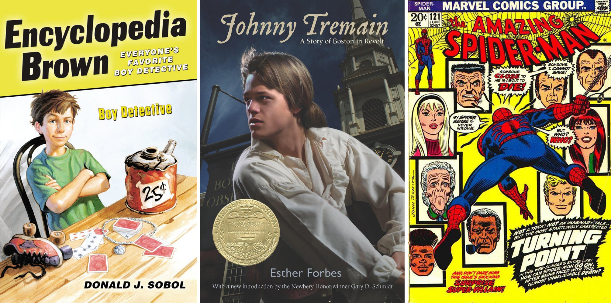 Encyclopedia Brown. Johnny Tremain and Spider-Man are just three characters that have influenced Chicago-area authors when they were kids.