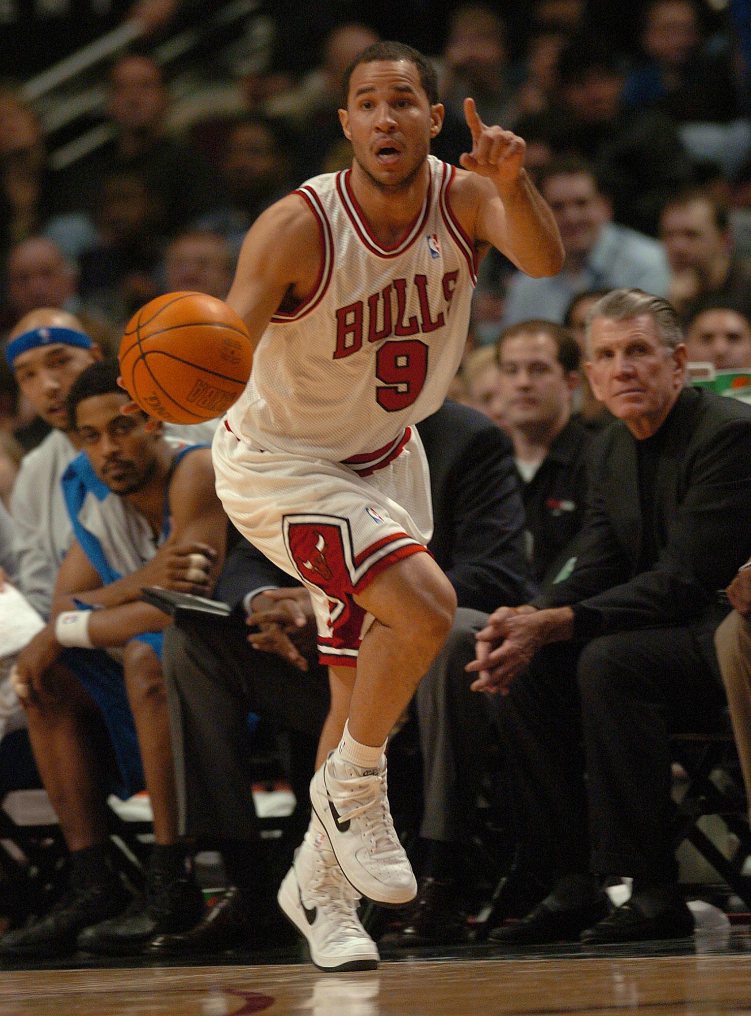 Rick Brunson plays for the Bulls against the Orlando Magic in 2003.