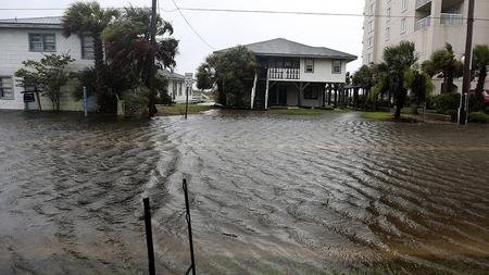 Water rises in North Myrtle Beach, S.C.