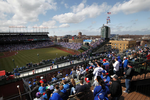 View of Wrigley Field