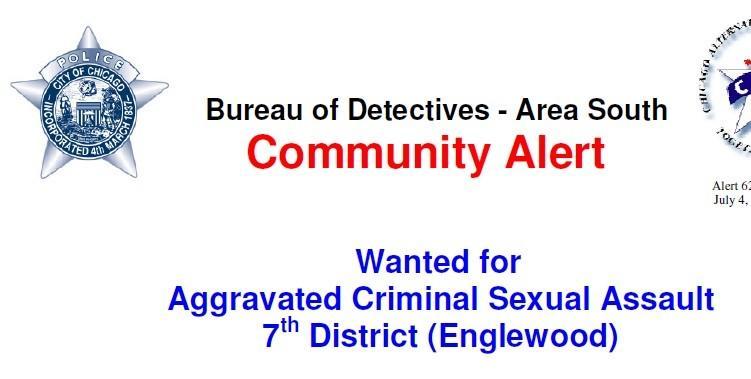 Chicago Police community alert.