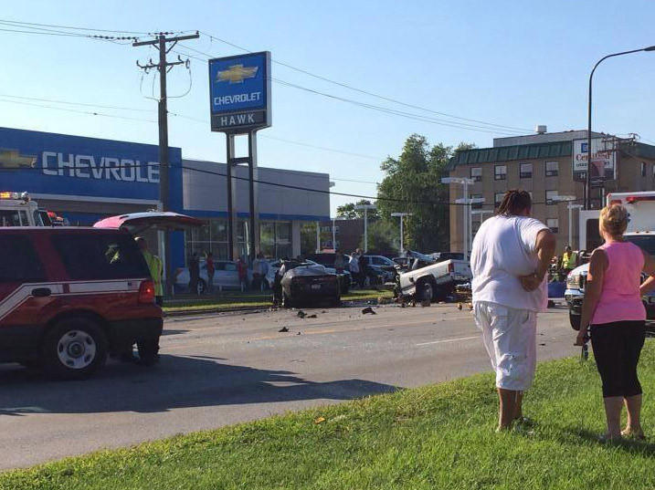 Four people died in a motor-vehicle crash in Bridgeview this evening, authorities said.