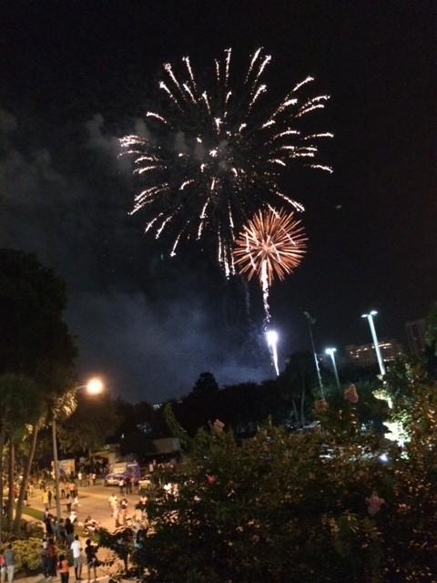 Fireworks at Lake Eola on Friday, July 4, 2014
