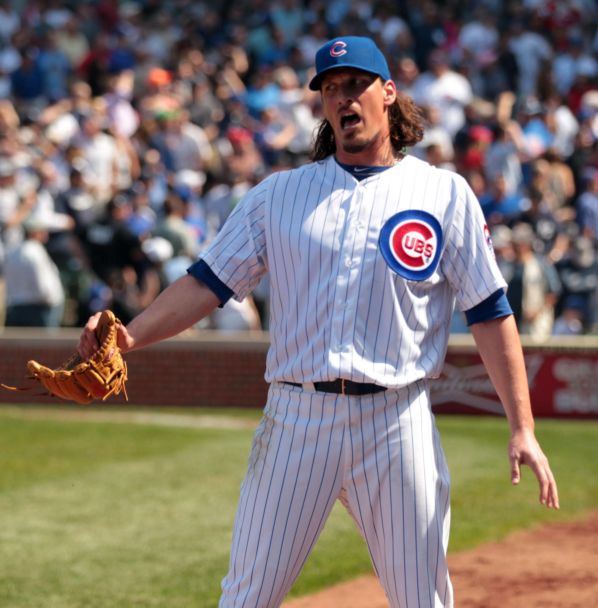 Jeff Samardzija is impressed with his teams defensive work against the Yankees earlier this season.