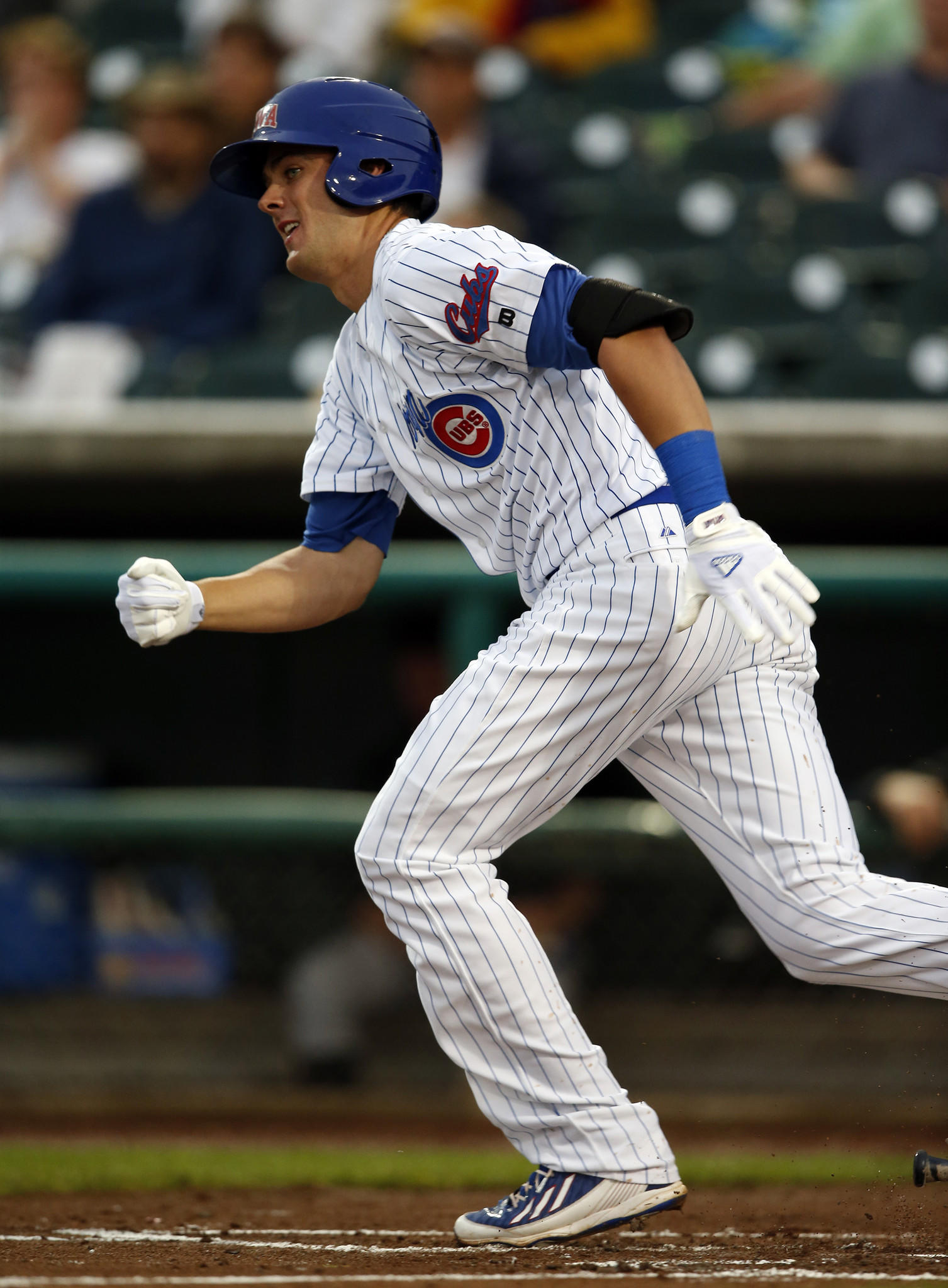 Cubs prospect Kris Bryant leaves the batter's box during a recent game in Iowa.
