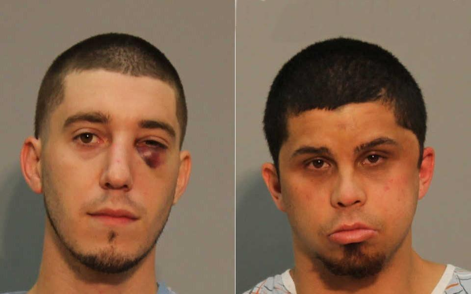 Jeffrey Johnson, 25, and Dylan Briggs, 24, both of Vernon, were charged with first-degree assault and other offenses after a stabbing Saturday night.