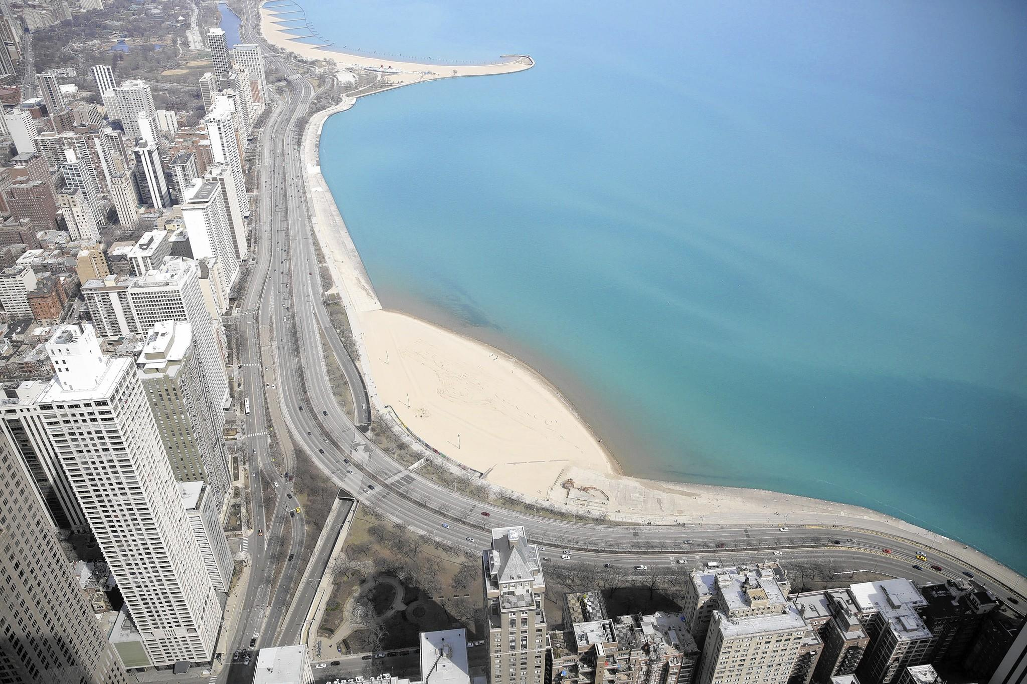 Proposals for Lake Shore Drive's improvement include building landfill into the lake between Ohio Street and North Avenue to soften the S-curve at Oak Street.