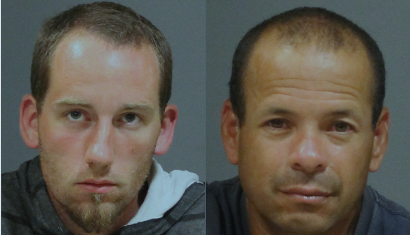 Christopher Colby (L) and Roberto Colon (R) were arrested in connection with a burglary in West Hartford Friday.
