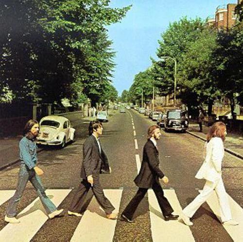 Site of the Beatles Abbey Road Album jacket photo.