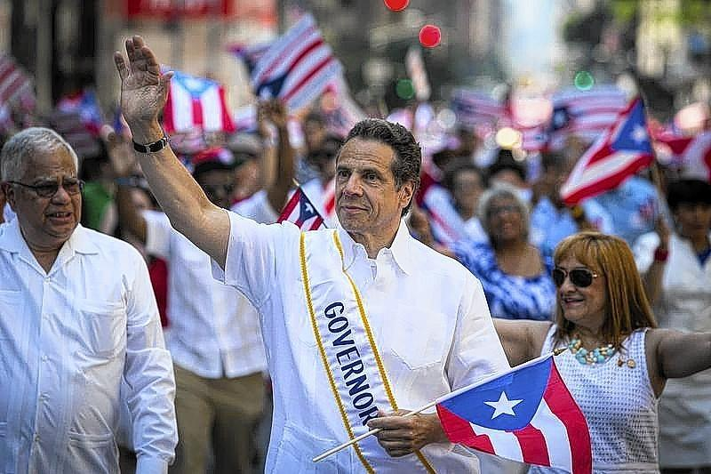 Governor of New York Cuomo participates in the National Puerto Rican Day Parade on Fifth Avenue in Manhattan