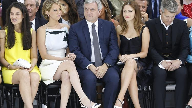 Jennifer Lawrence, Emma Watson at Dior