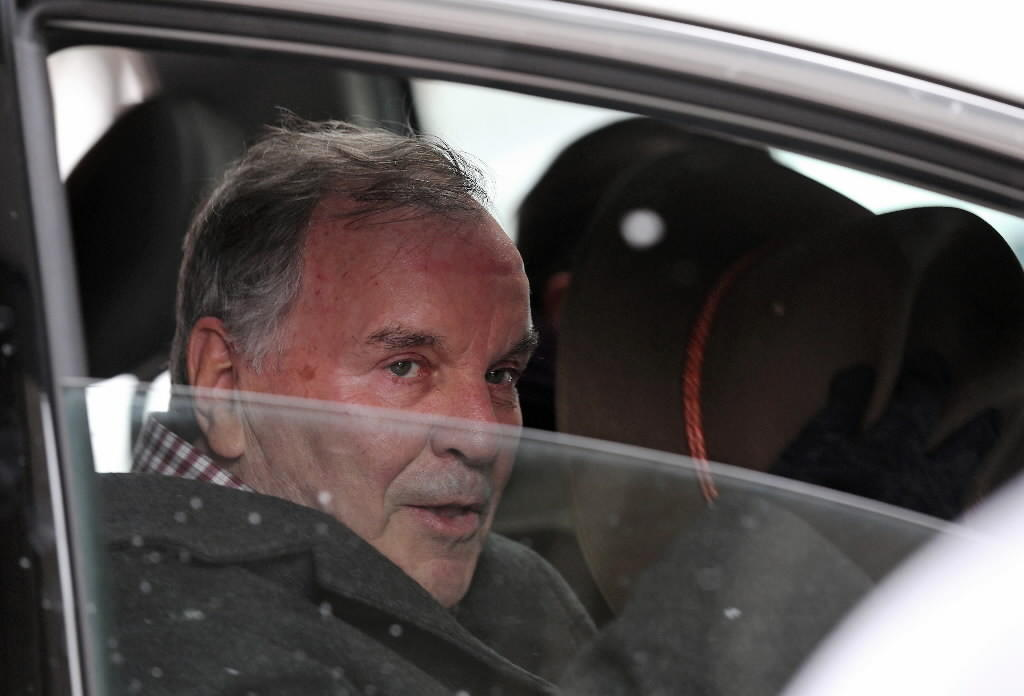 Former Mayor Richard M. Daley leaves Northwestern Memorial Hospital on Feb. 8 after a stay for medical treatment.