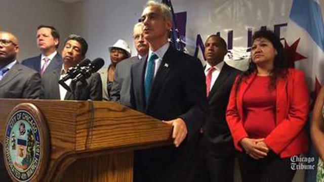 Raw Video: Rahm Emanuel recommends minimum wage increases