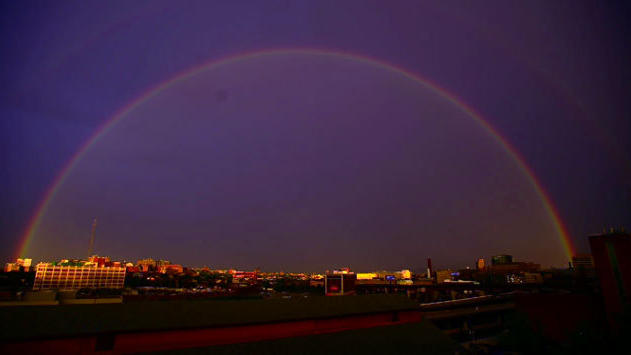 Baltimore rain to rainbow [Video]