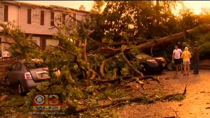 Child Killed, Thousands Without Power After Strong Storms Toppled Trees [WJZ Video]