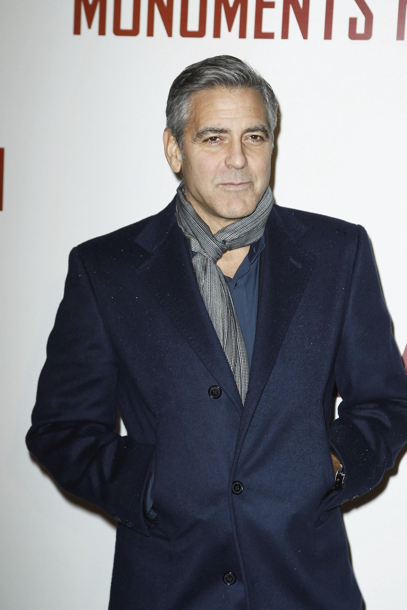 George Clooney attends 'Monuments Men' Paris premiere at Cinema UGC Normandie in Paris, France.