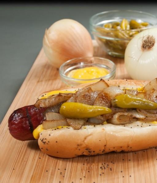 Al's Beef's Spicy, Jumbo Ditka Dog.