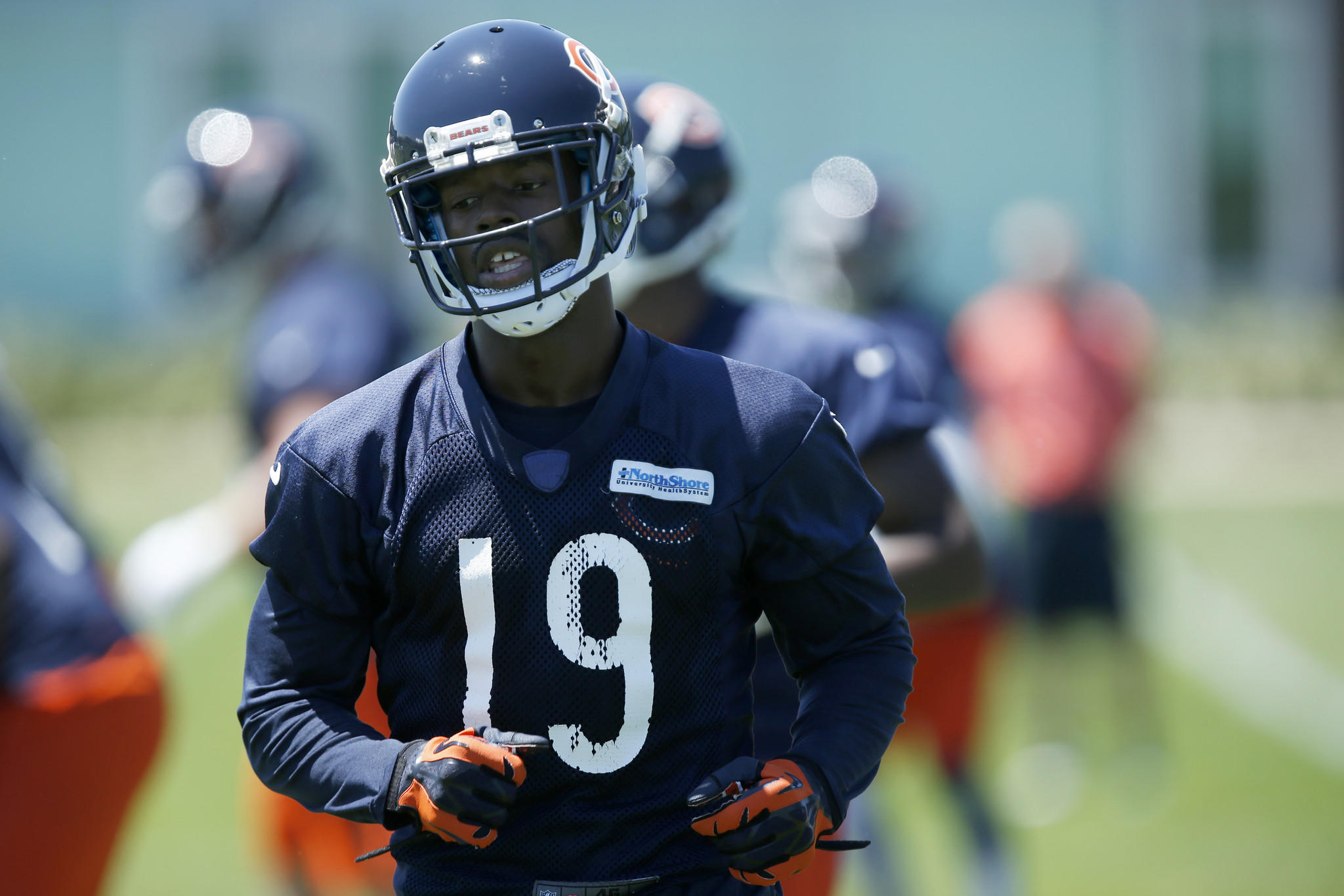 Bears wide receiver Josh Morgan during OTA practice at Halas Hall in Lake Forest.