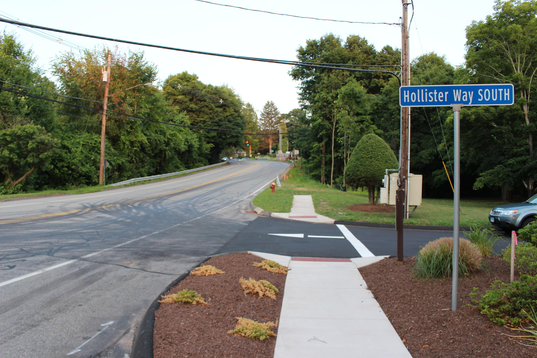 Another retaining wall and sidewalk will be built from Hollister Way South to Route 17.