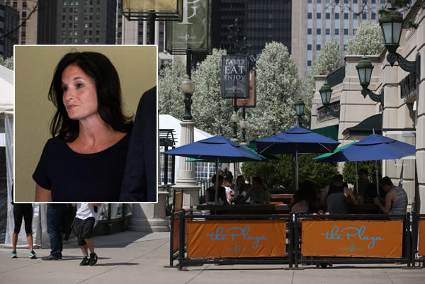 Laura Foxgrover (inset), a former Chicago Park District official who had an affair with a Park Grill investor, testified in court.