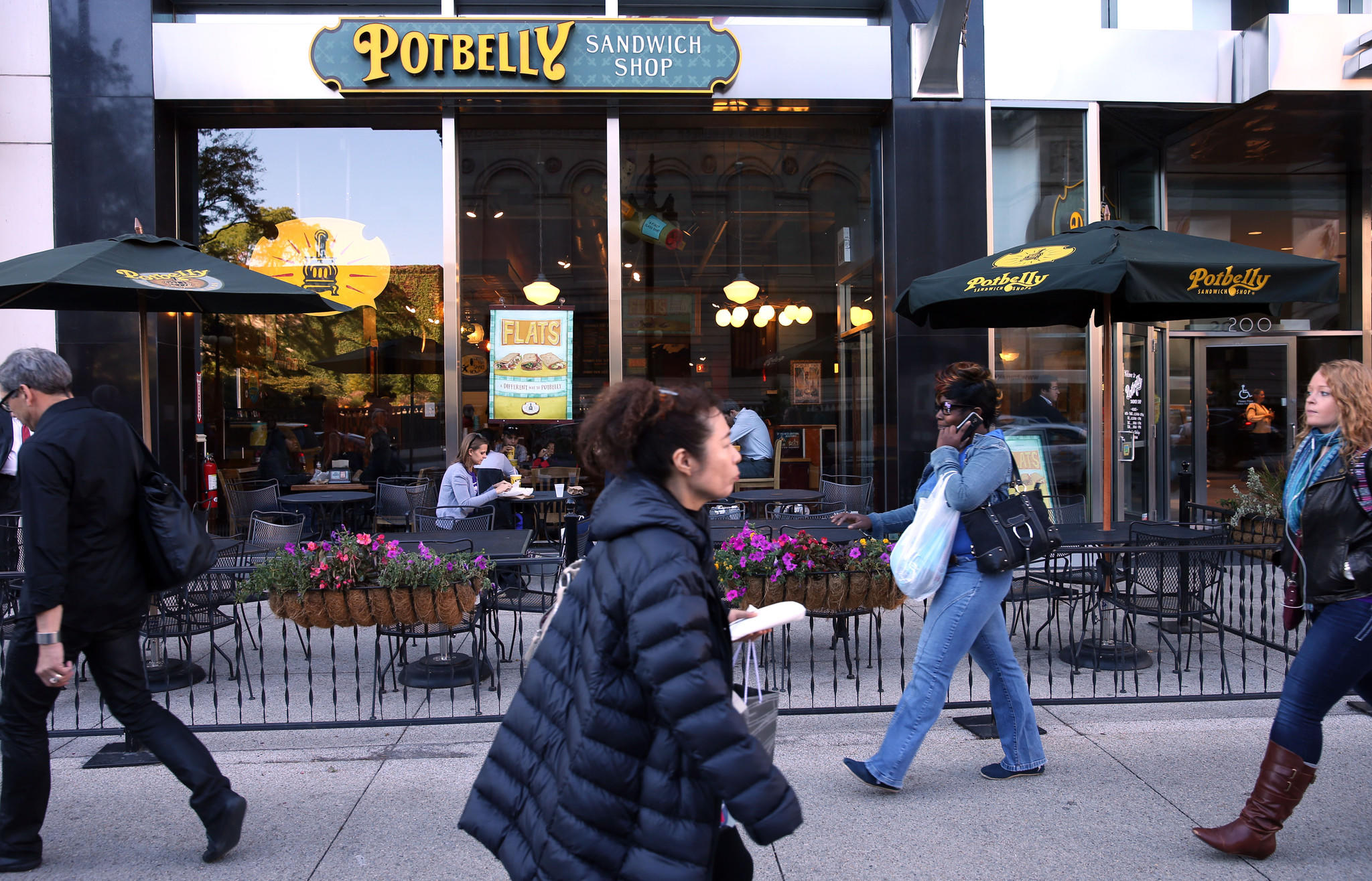 The Potbelly location at 200 S. Michigan.