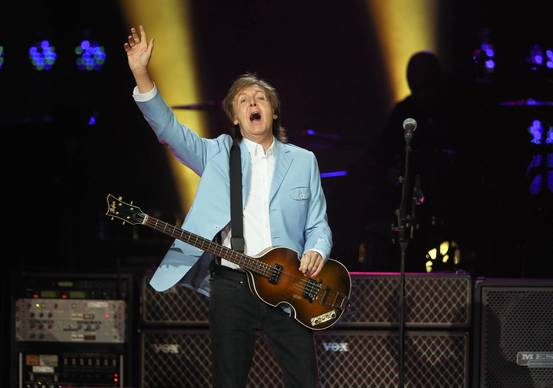 Paul McCartney performs at the United Center.