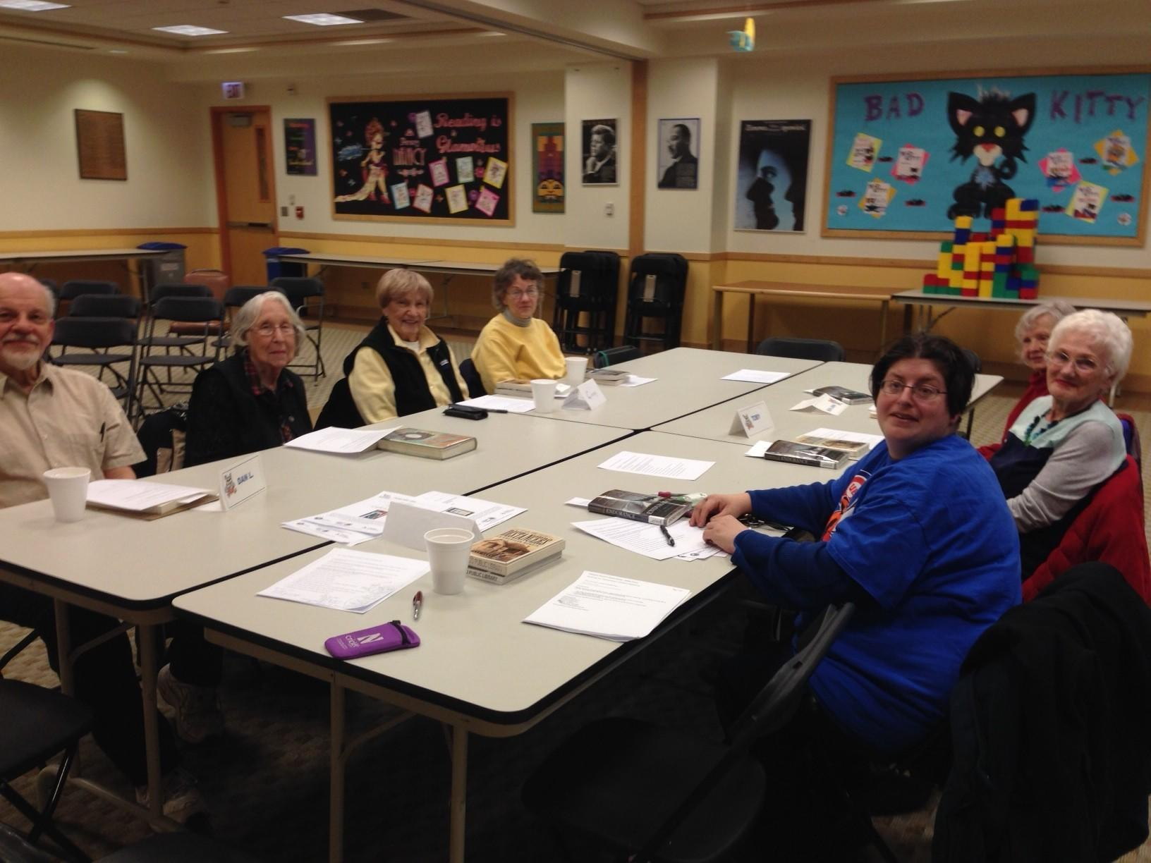 The Austin-Irving Book Club meets on the third Wednesday of each month at the Austin-Irving branch of the Chicago Public Library.