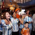 Netherlands and Argentina fans
