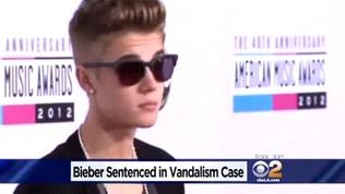 Justin Bieber sentenced for egging Calabasas neighbor's home