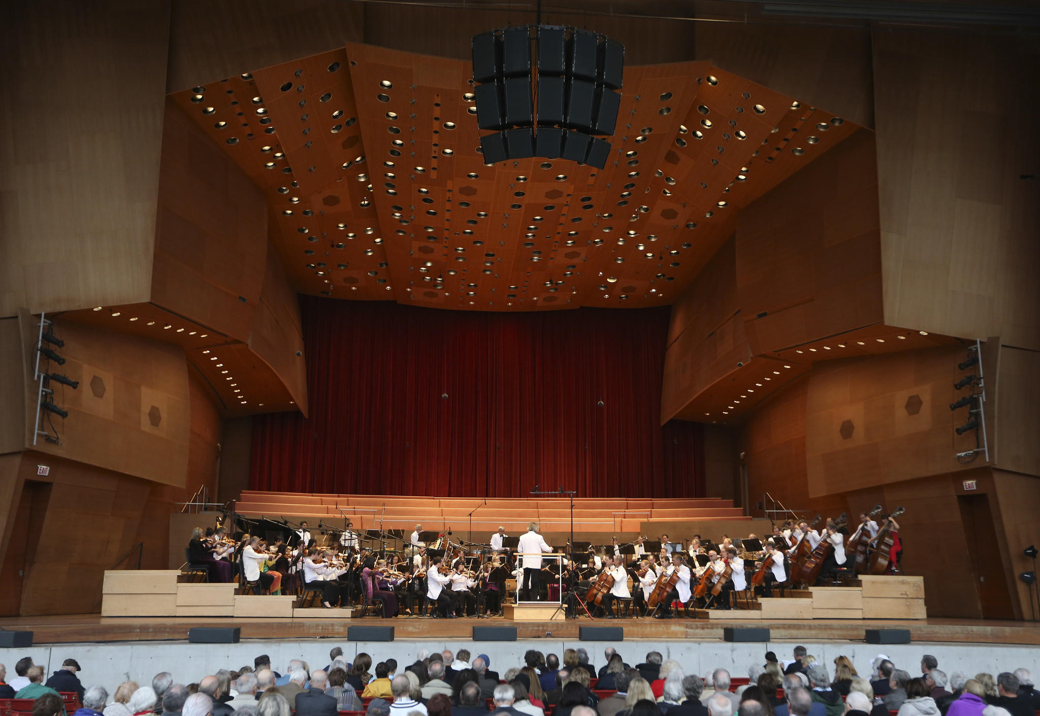 Carlos Kalmar conducts the Grant Park Orchestra and Chorus during a Tchaikovsky Extravaganza at the Jay Pritzker Pavilion on June 11.