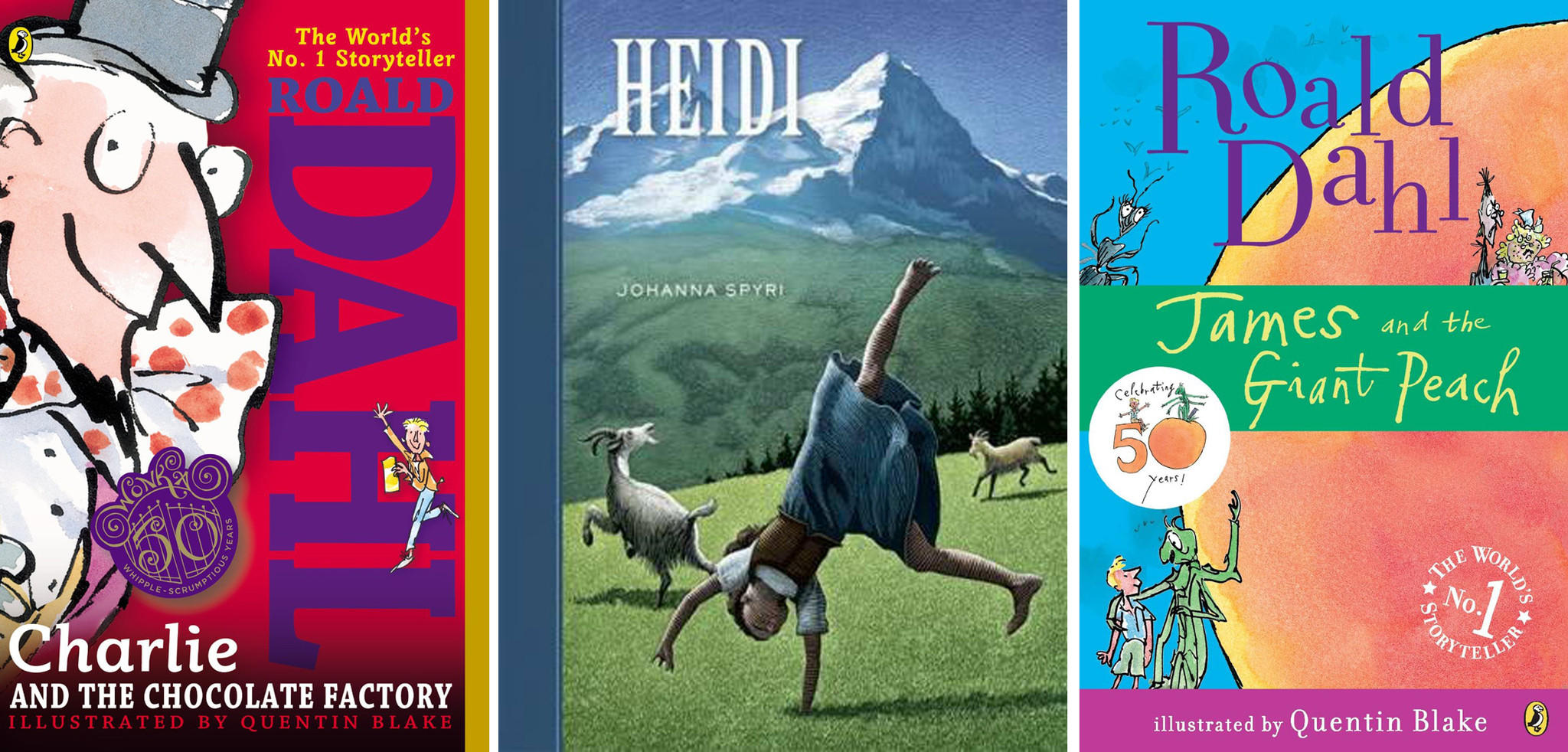 """Heidi as well as two Roald Dahl characters -- Charlie Bucket from """"Charlie and the Chocolate Factory"""" and James from """"James and the Giant Peach"""" -- are among local authors' favorite characters."""