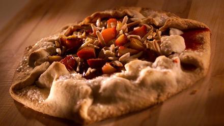 Plum-almond galette