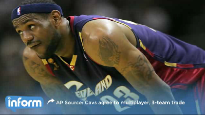 AP Source: Cavs agree to multiplayer, 3-team trade [Video]