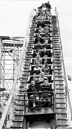 The Fireball roller coaster ride