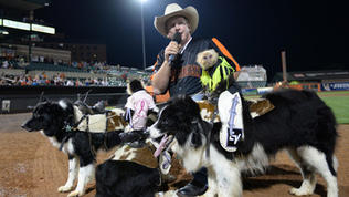 Cowboy Monkey Rodeo visits Aberdeen IronBirds [Video]