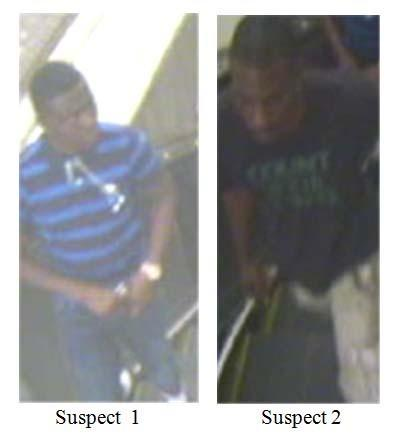 Two suspects in a robbery at the Shot Tower metro station were captured on surveillance cameras.