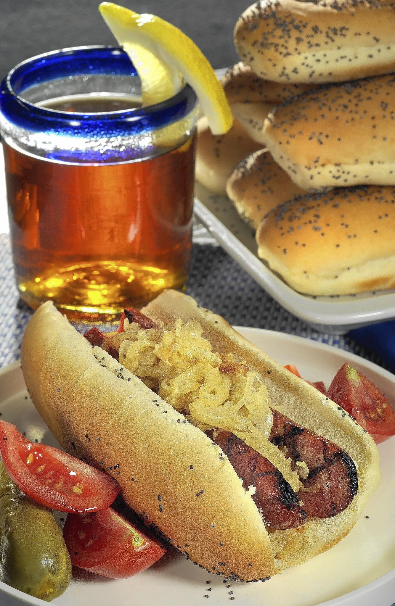 Rooting for Germany on Sunday? Quick-to-cook sausages and highly flavored sauerkraut make a winning team.