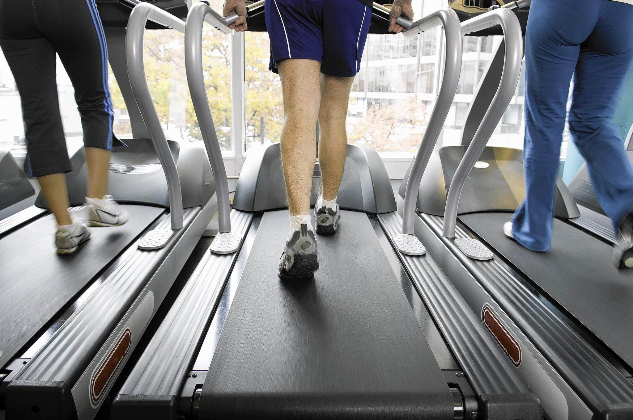 Jogging over solid ground involves pushing away from a stable force, while running on a treadmill does not.