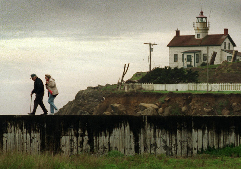 Battery Point Lighthouse in 1996. (Al Seib / Los Angeles Times)