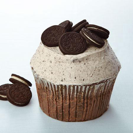 Cookies and Cream Colossal cupcake at Crumbs.