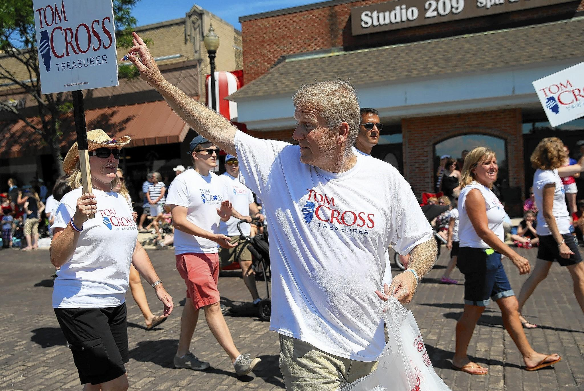 Rep. Tom Cross, R-Oswego, seen at Wheaton's Fourth of July parade, has backed legislation to change requirements so that the Illinois State Board of Education would issue licenses to two people who had sought Cross' help.