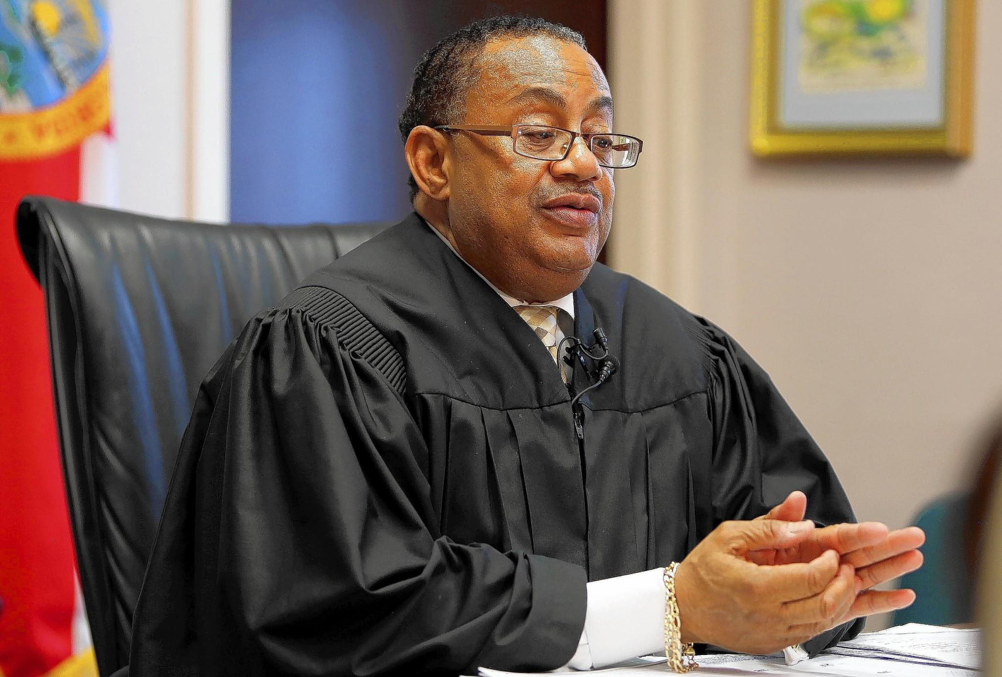Chief judge Belvin Perry, Jr, talks about forged court orders that led to the erroneous of two convicted murderers , on Thursday, October 17, 2013. Charles Bernard Walker and Joseph Jenkins, both 34, used forged documents to secure their release from the Franklin Correctional Institution in the Panhandle.