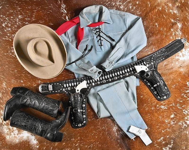 Handout picture of the outfit actor Clayton Moore wore when he made appearances as the Lone Ranger character