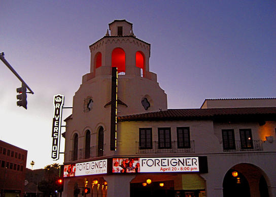 Downtown Riverside's Fox Performing Arts Center, a recently renovated 1929 Spanish Colonial Revival gem, features rock, classical, Broadway and dance performances.
