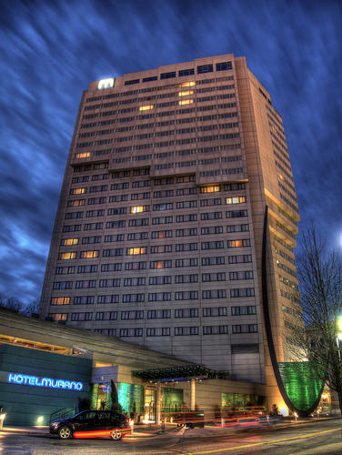 Every floor at the Hotel Murano in Tacoma, Wash., features glass works by a select artist.